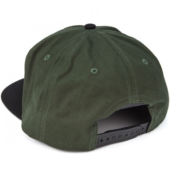Independent Sticker Bar Adjustable Twill Hat - Dark Green/Black