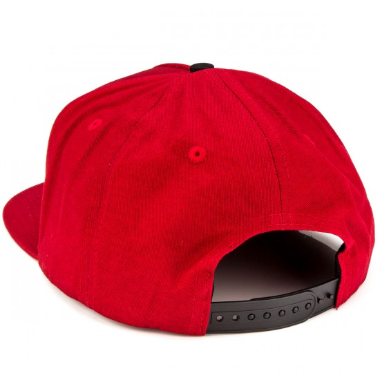 Independent Sticker Bar Adjustable Twill Hat - Dark Red