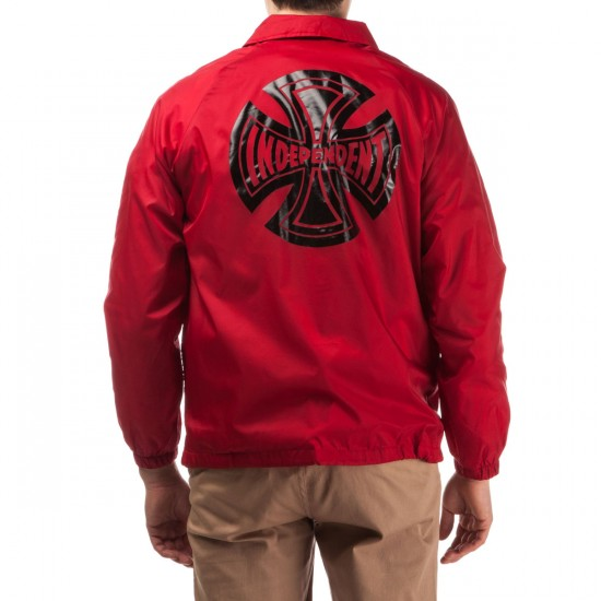 Independent Subdue Coach Windbreaker Jacket - Red