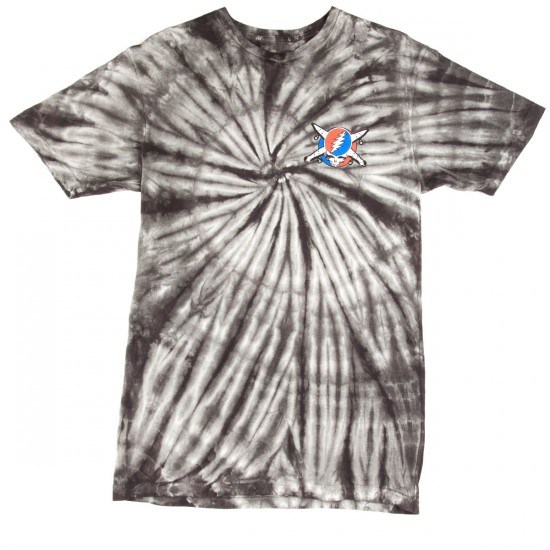 Fourstar Jerry Pirate Tie Dye T-Shirt - Charcoal