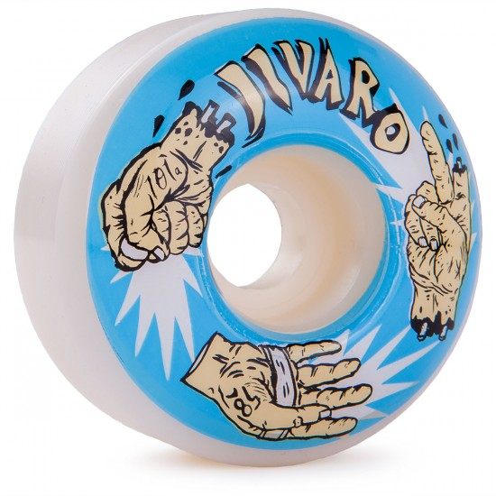 Jivaro El Roshambo Skateboard Wheels 58mm 101a - White