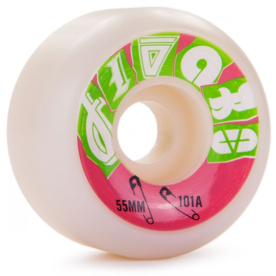 Jivaro Mestizo Skateboard Wheels 55mm 101a - White