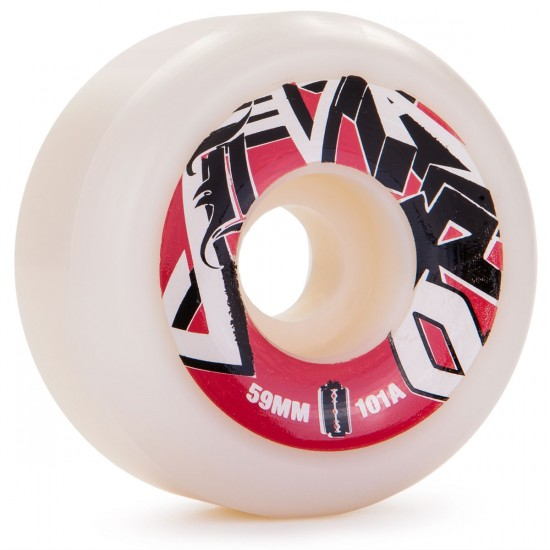 Jivaro Mestizo Skateboard Wheels 59mm 101a - White