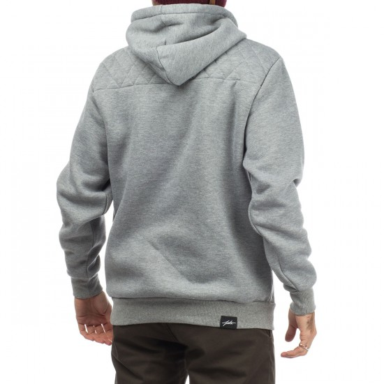 JSLV Bradshaw Quilted Pullover Hoodie - Athletic Heather
