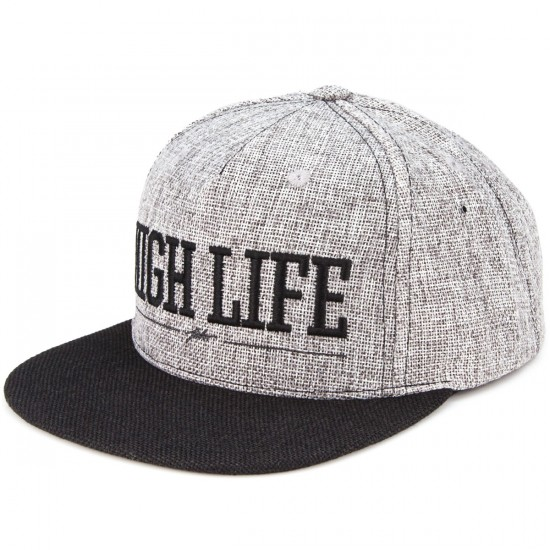 JSLV Highlife Hemp Snapback Hat - Charcoal/Black