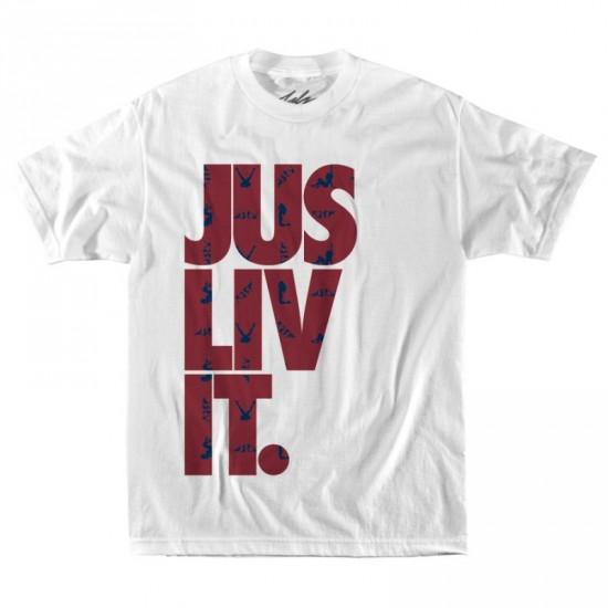 JSLV Liv It Naughty T-Shirt - White