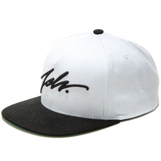 JSLV Signature Snap Back Hat - White