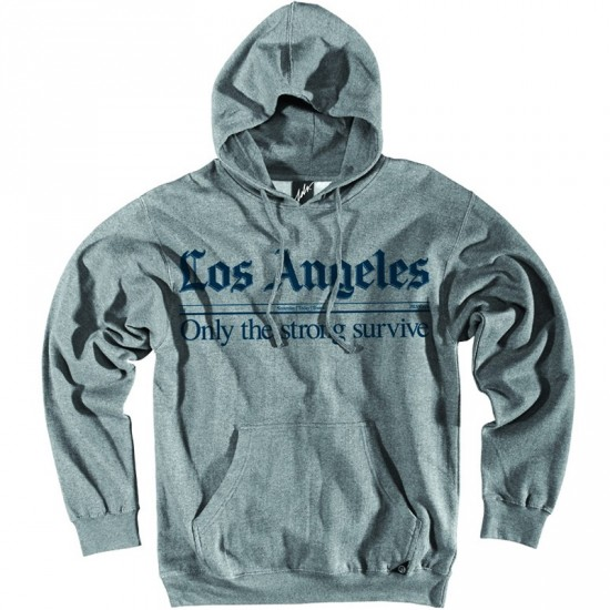 JSLV Times Pull-Over Sweatshirt - Athletic Heather/Navy
