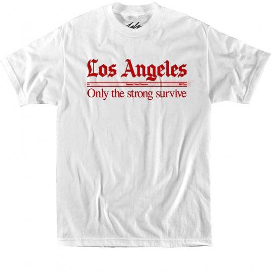 JSLV Times T-Shirt - White/Red