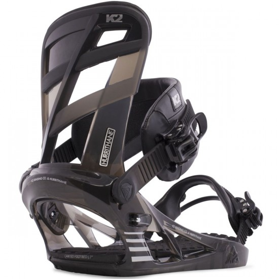 K2 Hurrithane Snowboard Bindings 2015 - Black Smoke