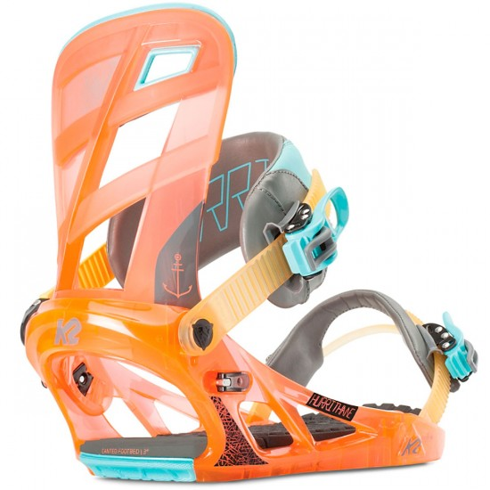 K2 Hurrithane Snowboard Bindings - Tequila Sunrise