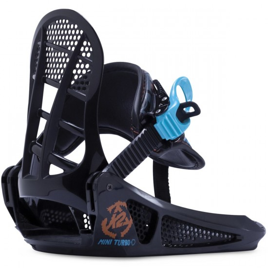 K2 Mini Turbo Youth Snowboard Bindings - Black