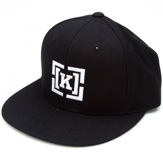 KR3W Bracket Snap Hat - Black/White