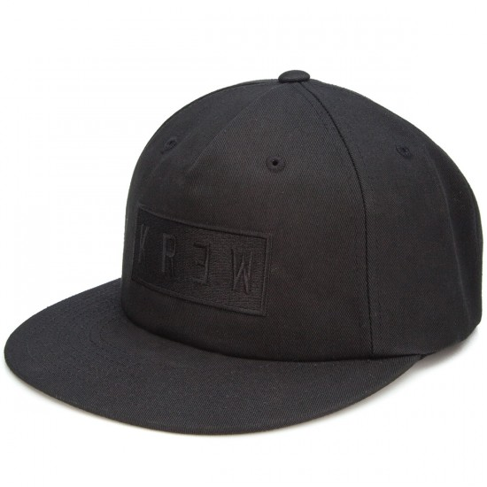 KR3W Flat Locker Snap Hat - Black
