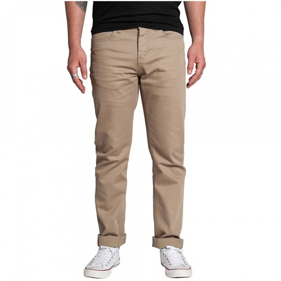 KR3W K Slim 5 Pocket Pants - Dark Khaki