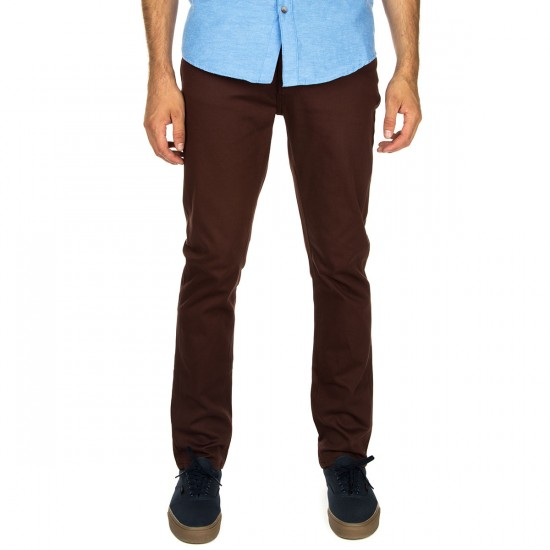 KR3W K Slim 5 Pocket Pants - Oxblood - 29 - 32