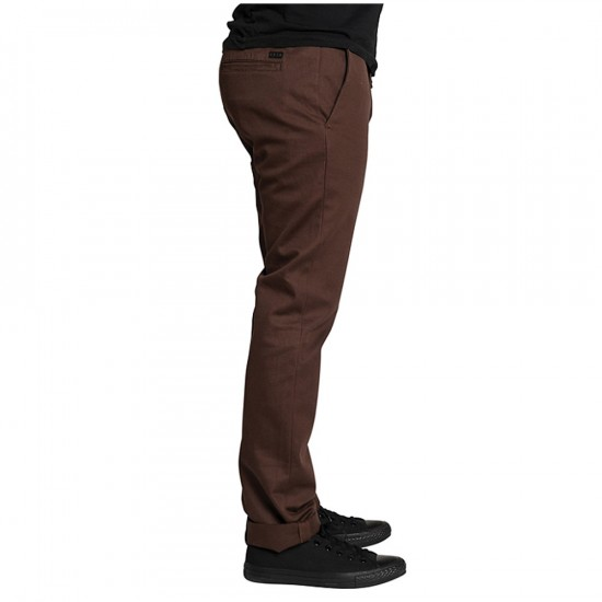 KR3W K Slim Chino Pants - Soil - 28 - 32