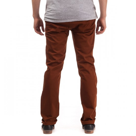 KR3W K Slim Chino Pants - Burnt Ochre - 28 - 32