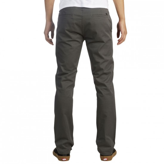 KR3W K Slim Chino Pants - Charcoal - 30 - 32