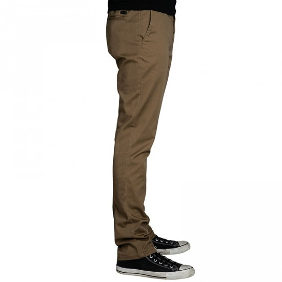 KR3W K Slim Chino Pants - Coffee - 36 - 32