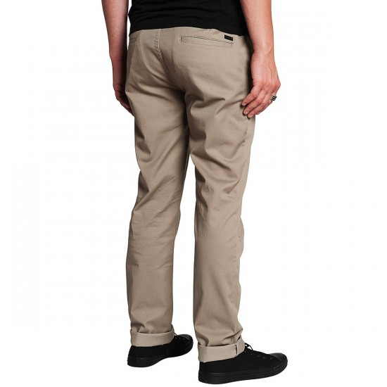 KR3W K Slim Chino Pants - Dark Khaki - 28 - 32