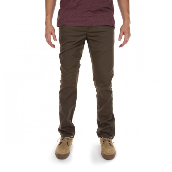 KR3W K Slim Chino Pants - Dirty Olive - 36 - 32