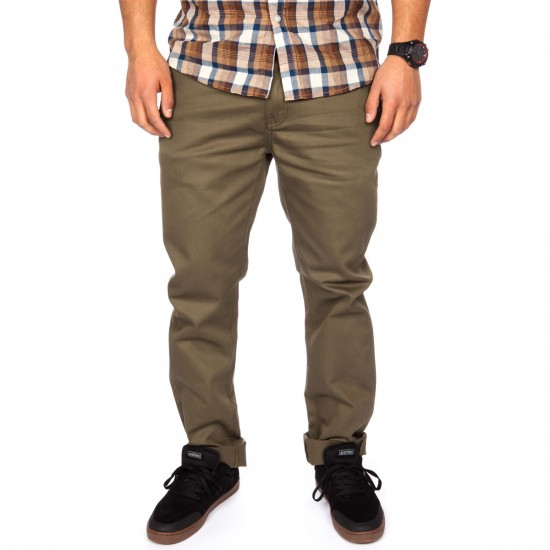 KR3W K Slim Chino Pants - Drab