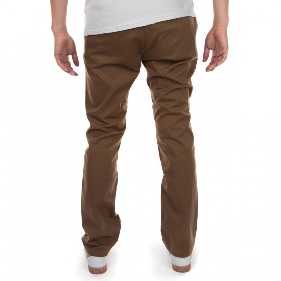 KR3W Klassic Chino Pants - Coffee - 28 - 32