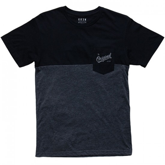 KR3W Original Colorblock Pocket T-Shirt - Black/Charcoal