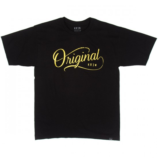 KR3W Original T-Shirt - Black/Gold
