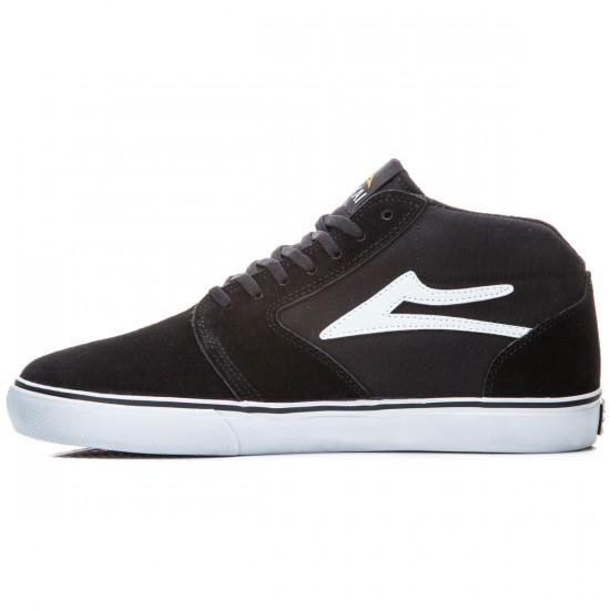 Lakai Fura High WT Shoes - Black/White Suede - 8.0