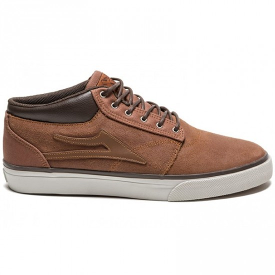 Lakai Griffin Mid Shoes - Brown Suede All Weather - 13.0