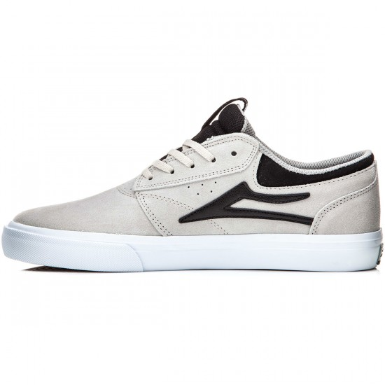 Lakai Griffin Shoes - White/Black Suede - 8.0