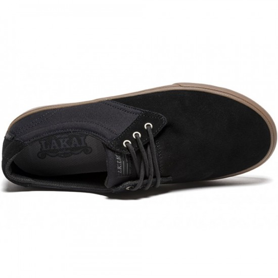 Lakai MJ XLK Shoes - Black/Gum Suede - 6.0