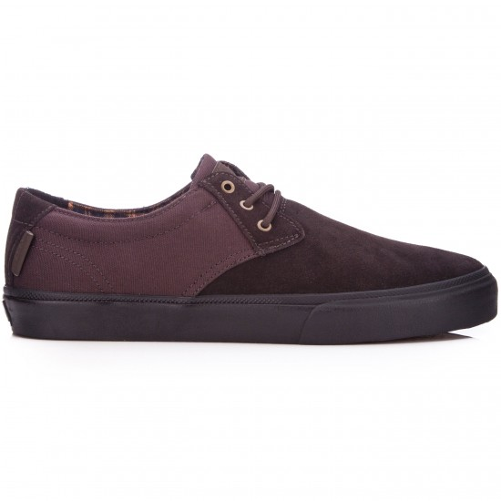 Lakai MJ Shoes - Brown/Black Suede - 6.0