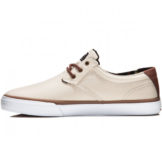 Lakai MJ Shoes - Cream Canvas - 8.0