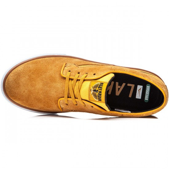 Lakai Riley Hawk Shoes - Gold/Suede - 8.0
