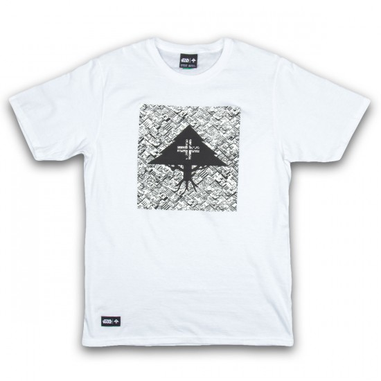 LRG Death Star Print Tree T-Shirt - White