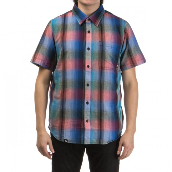 LRG Delano Short Sleeve Woven Shirt - True Blue