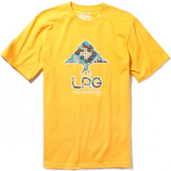 LRG Floral Tree Fill T-Shirt - Gold