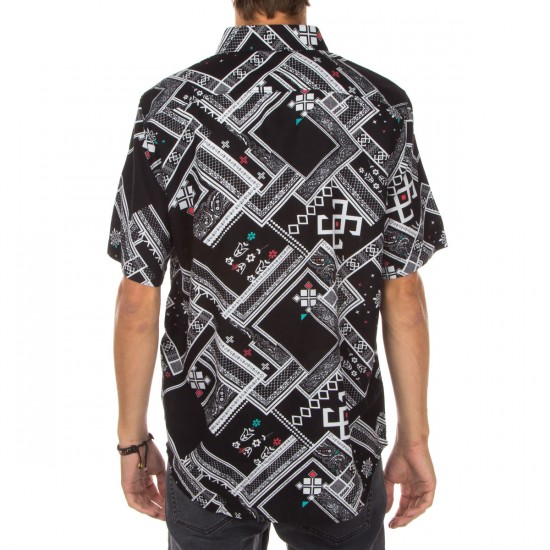 LRG Havana Short Sleeve Woven Shirt - Black