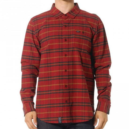 LRG Independent Thinker Woven Shirt - Maroon