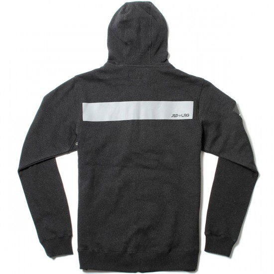 LRG JSPXLRG Zip Up Hoodie - Black Heather
