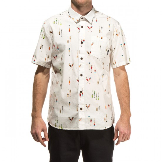LRG Lifted Crew Short Sleeve Woven Shirt - White