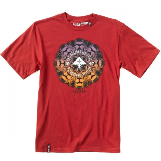 LRG Lion Chamber T-Shirt - Lobster Red