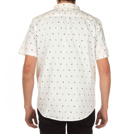 LRG No Justice No Peace Short Sleeve Woven Shirt - Off White