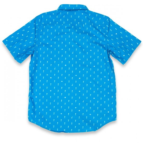 LRG Palm Grove Short Sleeve Woven Shirt - Electric Blue