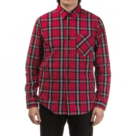 LRG Poplin Plaid Long Sleeve Shirt - Red