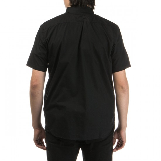 LRG Poplin Short Sleeve Woven Shirt - Black