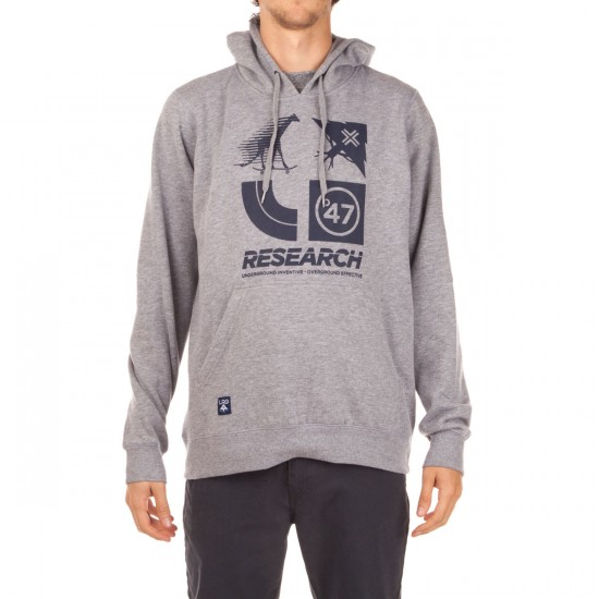 LRG RC Logo Cluster 47 Pullover Hoodie - Ash Heather